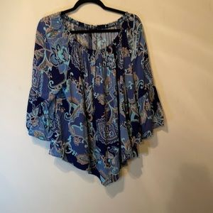 New Directions Blue floral top